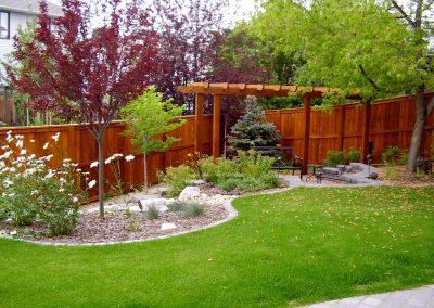 Landscape Project Case Studies. Calgary Backyard Garden Design