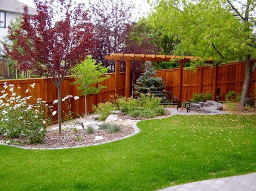 Calgary Backyard Garden Design